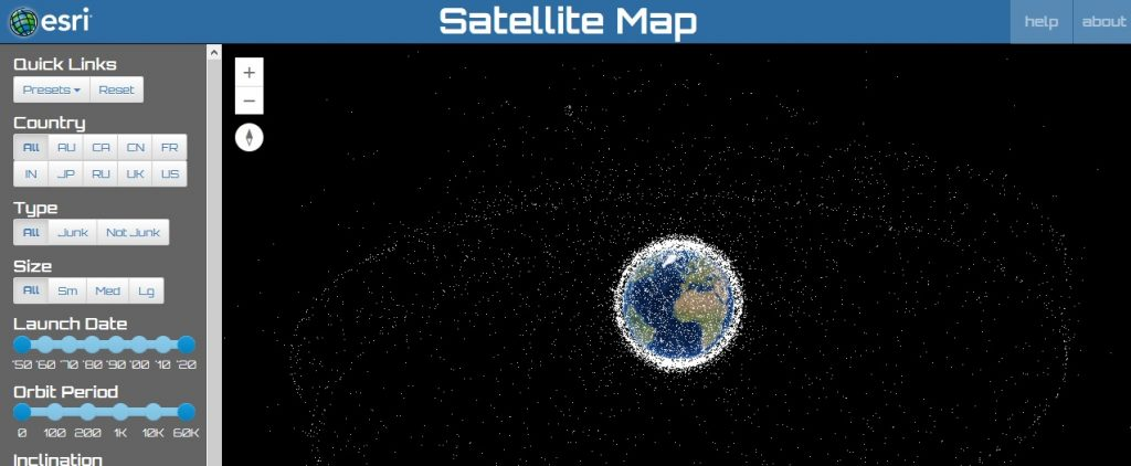 ESRI Space map