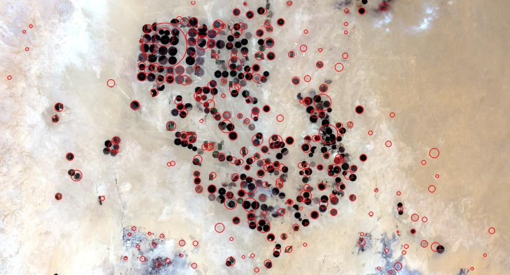 blobs on satellite data