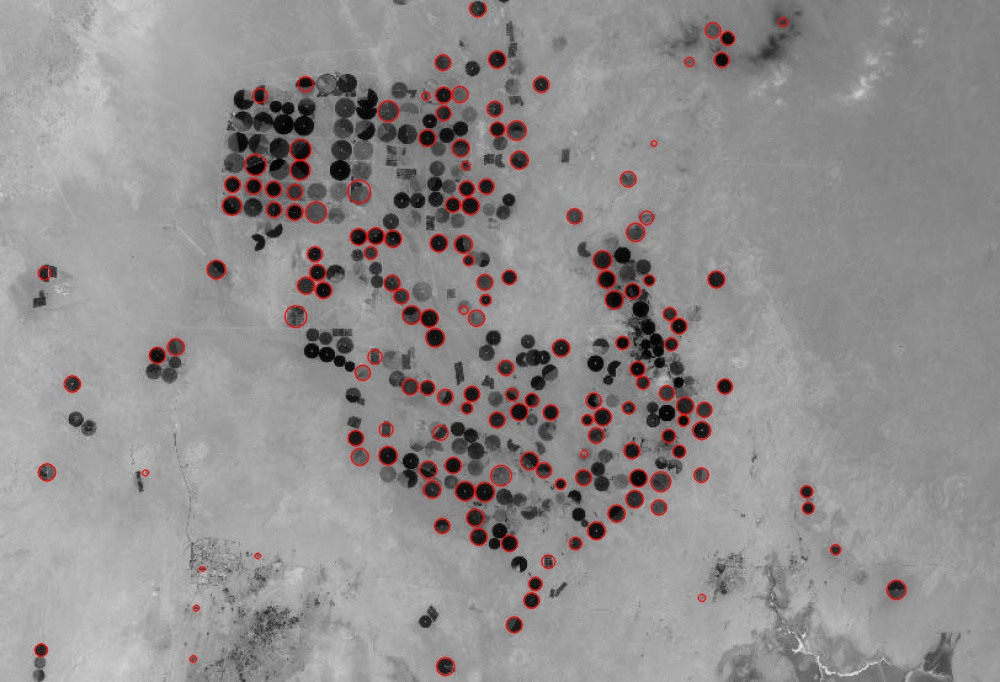 blobs satellite imagery