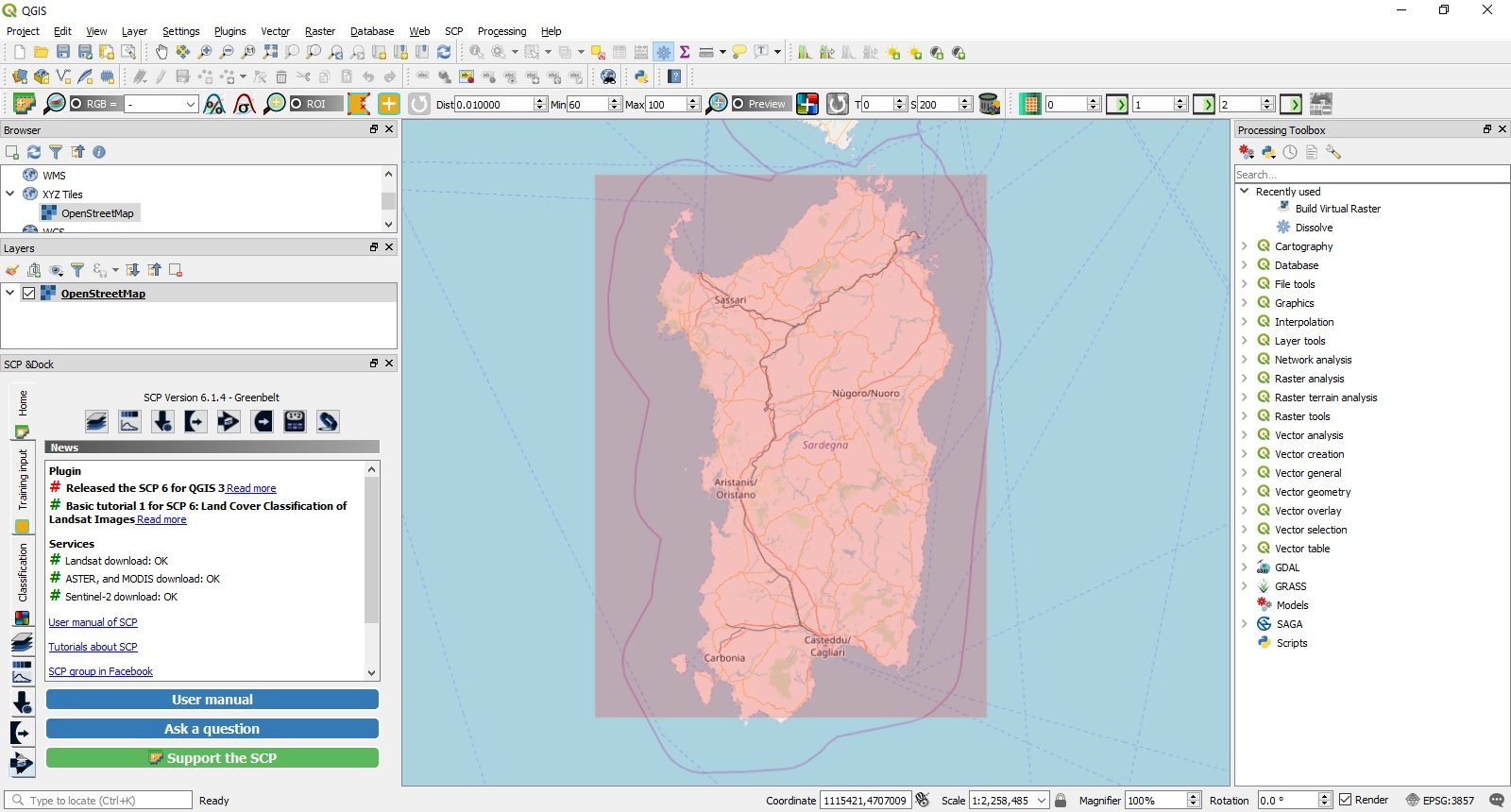 Using QGIS 3 for Earth Observation