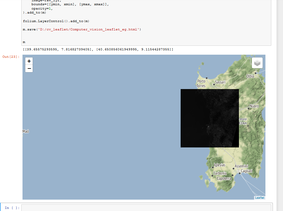 Combining OpenCV and leaflet for simple web mapping