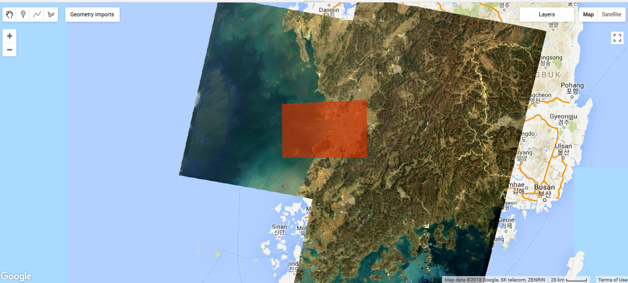 Time series on Landsat data with Google Earth Engine